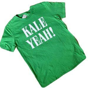 "Well Worn LA ""Kale Yeah"" Mens Large Green T Shirt"